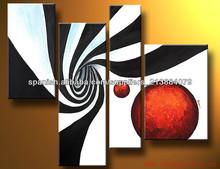 Pintura Pintura Popular óleo moderna abstracta hecha a mano enmarcada de Comercial