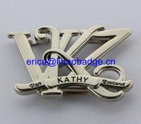 High Quality Custom Letter Shape Bag Label Metal Plate For Handbag