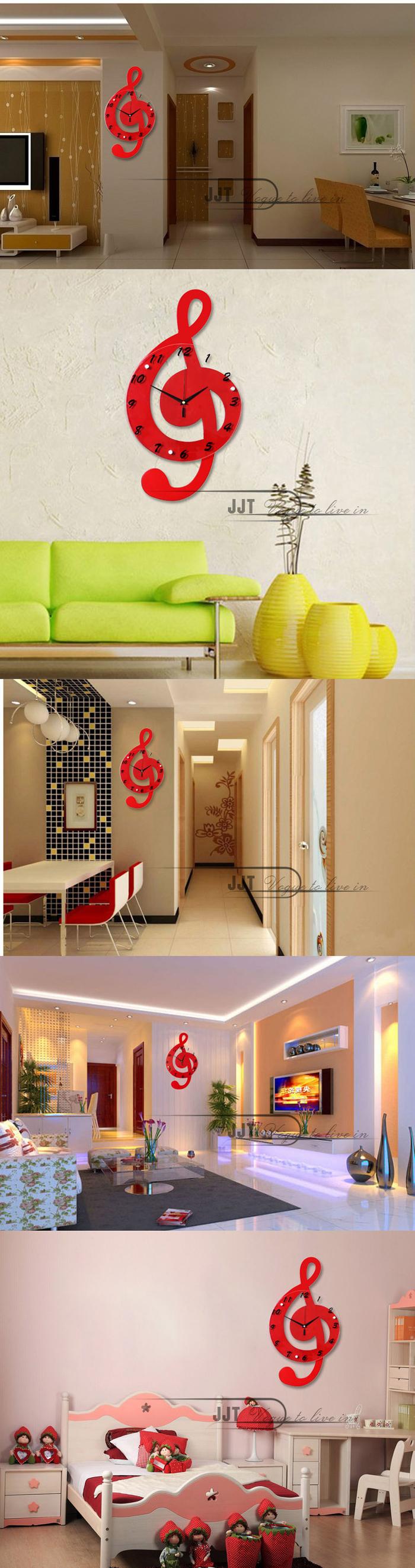 creatieve muzieknotatie woonkamer houten home decoration mode ...