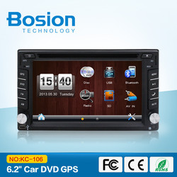 Pioneer High quality 2din 6.2inch Car navigation and entertainment system with Radio,GPS,Bluetooth,SWC,3D UI for universal cars