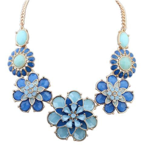 wholesale 114403 2015 cheap statement necklace flower
