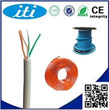 High Speed Bare Copper 2 Pair Telephone Cable New PVC 0.4mm 0.5mm 24AWG Telephone Cable