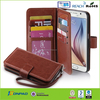 Fashion leather case for Galaxy s6 with card solts