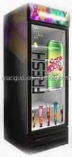 Qiaoguo transparent door fridge/ transparent lcd display/single door transparent lcd refrigerator