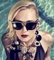 19 ewjjjt European and American star with Anna Karin lion head with retro cat eye sunglasses sunglasses wholesale