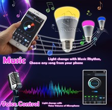 bluetooth light timmer dimming CCT changeable light activated sound digital timing light