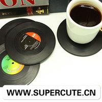China 2014 antique fresh design vinyl shape beer coaster printing