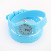 Free shipping fashion colorful fluorescent jelly sweet candy watch
