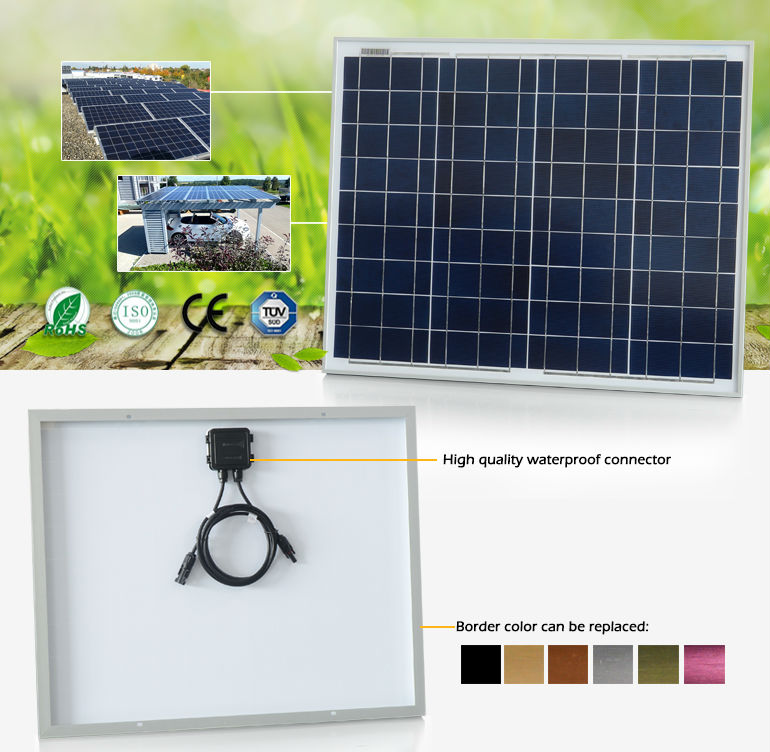 PV Poly solar cell panel price list