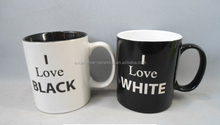 MX0094 high quality factory sale creative black/white ceramic mug/coffee mug