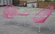 Kid furniture colorful outdoor wicker acapulco chair outdoor furniture