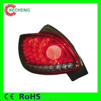 plug and play CE&RoHS 12v car tail lamp peugeot 206 led light