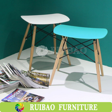 Economic Plastic Dining Chair With Wood Legs/Restaurant Dinning Chair