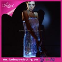 2015 sexy club wear shiny dress/ light in the dark clothing