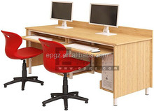 Office Furniture Computer Desk Workstation, Wooden Computer Desk for 2-Persons Used
