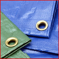 LDPE coated tarpaulin with stripes