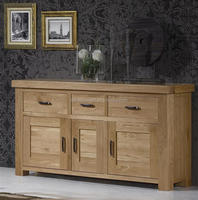 solid american white oak wooden furniture chunky design storage sideboard cabinet