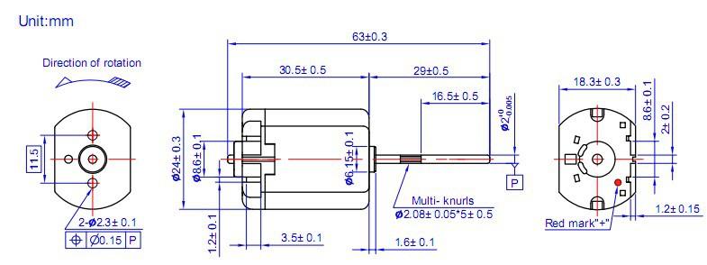 FT-280RAV-10368B permanent magnet micro 13 V DC brushed motor for vehicle