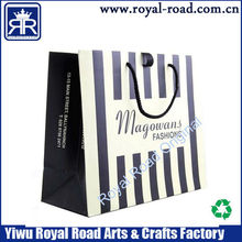 Custom Logo Printed white craft gift shopping paper bag Wholesale
