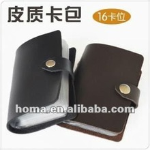 leather cover plastic credit card 16card sets