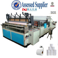 Full-automatic high speed rewinder embossing portable toilet paper machine