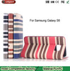 Stripe Pattern leather case for Samsung S6 Edge, Card stand mobile phone case for Galaxy S6 Waterproof Case