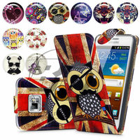 For Samsung Galaxy S2 I9200 High Quality Print Flip PU Leather Case Cover Moible Phone Case