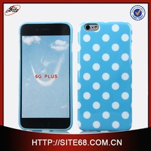 High Quality Customized Polka Dot Cell Phone case for Iphone 6 Tpu Case