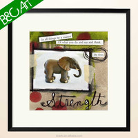 Nice design animal oil painting lovely animal cartoon elephant oil painting