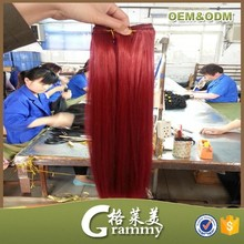 Express alibaba wholesale high quality 8a grade straight dark red color human hair weaving