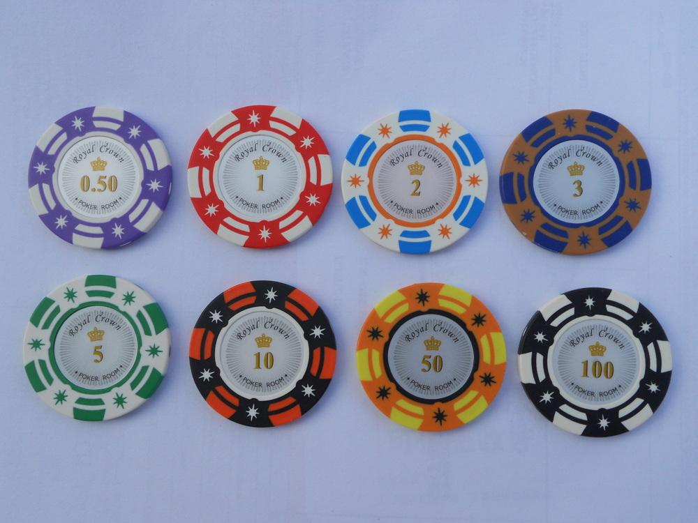 Two-tone or three tone options sticker poker chips,Custom souvenir poker chip
