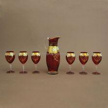 Handmade Glass Water Set /antique water jug