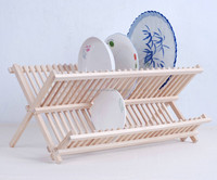 china factory wood folding Dish drainer,multi-useful dish drainer