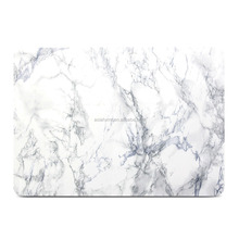 For Macbook Pro 13 Case,Hard Case Print Frosted for MacBook Pro 13, White Marble Pattern Hard Shell Case Cover