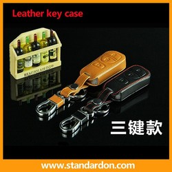 High Quality leather remote key cover case For Nissa R30 R50 D50