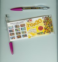 Advertisement Optional Calendar Pull Out Banner Ball Pen cheap plastic pens for Promotional Gifts