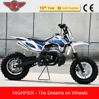 "50cc Cheap Kids Gas Dirt Bikes for Sale DB502A 10""/10"""
