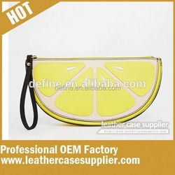 Causual style cute yellow clutch bag