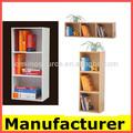 Mini diseño kd librería de madera, libre combinación librerías/estanterías