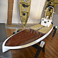 Quality wooden shining polished fishing sup board for fishing and paddling sports