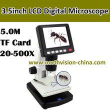 5 Mega Pixels microscope usb camera with 3.5 inch screen