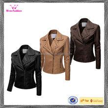 Manufacturer Women Leather Jacket/Biker Leather Jacket