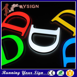 Save energy colored shop alphabet solid acrylic sign board