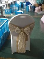lace burlap chair sash