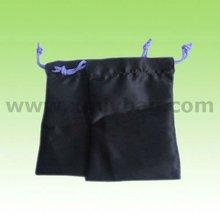 Fashion Mini Black Satin Drawstring Bag,Travel Jewelry Bag