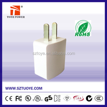 Shenzhen Toye Power Micro USB Charger 5W 5V1A with EU Plug