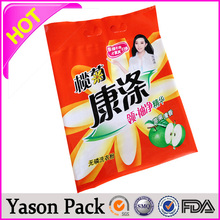 Yason hdpe recylce polybags / garbage / trash bag /bin polybag self-adhesive bags with small shopping card paper stand up pouch