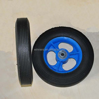8 x 1.75 small solid rubber wheel for toy cart