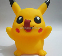 Pikachu shaped pvc vinyl figure,cute cartoon figure pvc rotocasting figure,custom plastic vinyl figure for children