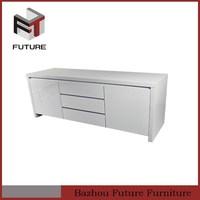 New design Home Furniture white MDF high gloss tv unit